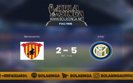 Hasil Pertandingan Benevento vs Inter Milan: Skor 2-5