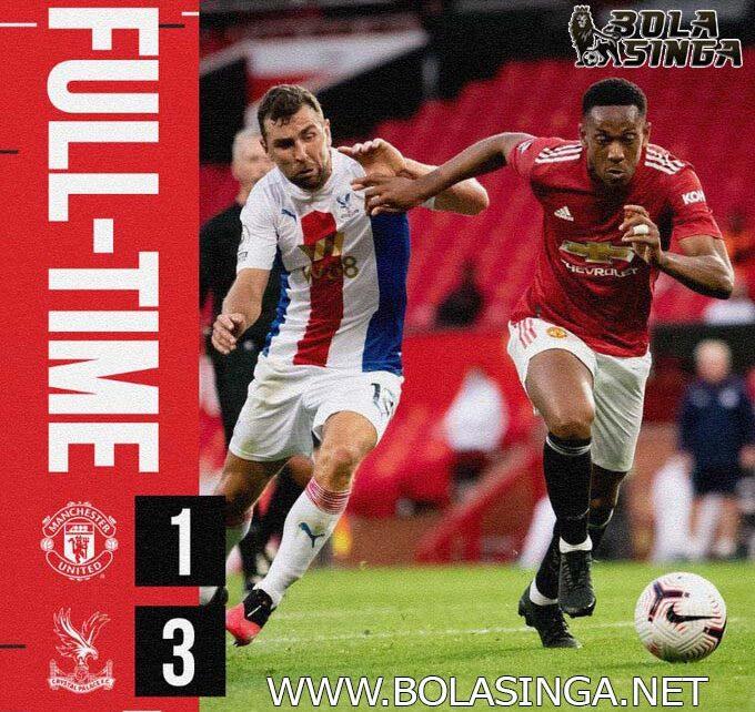 Hasil Pertandingan Manchester United vs Crystal Palace: 1-3