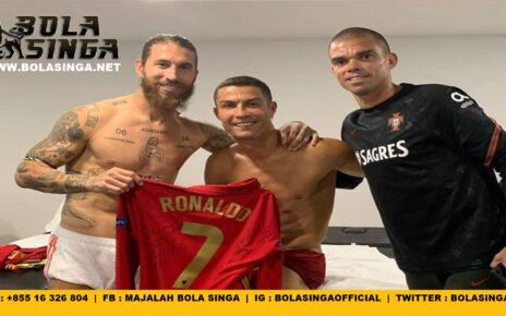 Sergio Ramos Langsung Reunian Sama Cristiano Ronaldo