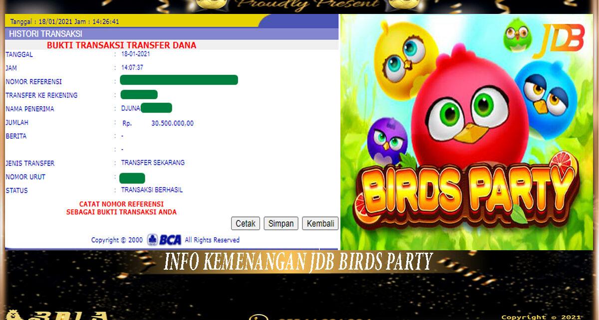 Pemenang Game Slot JDB 18 Januari 2021