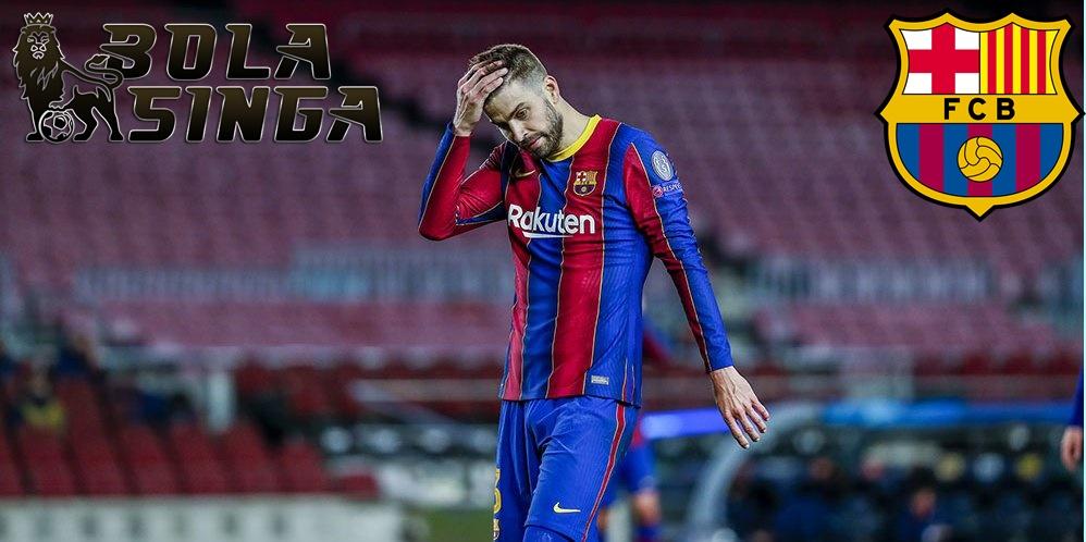 Barcelona Frustrasi! Pique dan Griezmann Saling Lempar Kata-kata Kasar