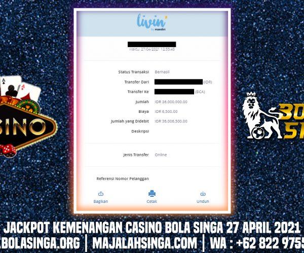 Info Kemenangan BolaSinga 27 April 2021