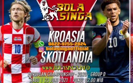 Data dan Fakta Euro 2020: Kroasia vs Skotlandia